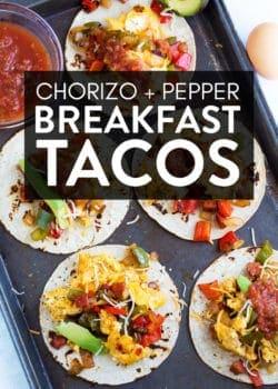 Breakfast tacos on a sheet pan