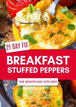 21 Day Fix Egg Stuffed Peppers