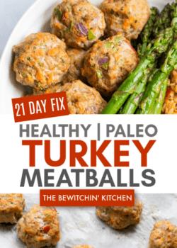 21 Day Fix Paleo Turkey Meatballs