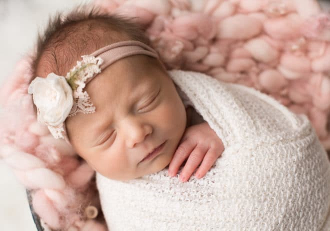 Baby girl newborn photography