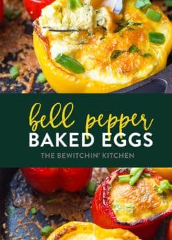 baked eggs in bell pepper