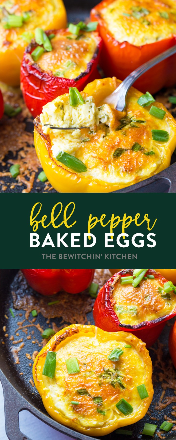 These easy baked eggs in bell peppers are the easiest breakfast recipe for camping (and easy clean up). Just shake, pour, cook, and serve! Two ingredients, healthy and fits all the diets: 21 day fix, liift4, paleo, whole30, keto, low carb, and more! Bake it in the oven or over a campfire! #ad #thebewitchinkitchen #eggstuffedpeppers #campingrecipes #campingbreakfast #breakfaststuffedpeppers #paleobreakfast #whole30recipes #liift4recipes #21dayfixrecipes
