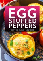 Easy egg stuffed peppers recipe