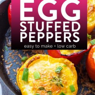 Easy egg stuffed peppers recipe