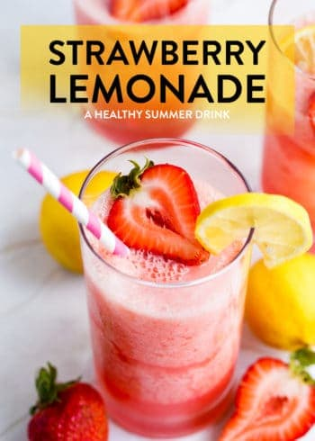 Strawberry Lemonade recipe made with a Vitamix