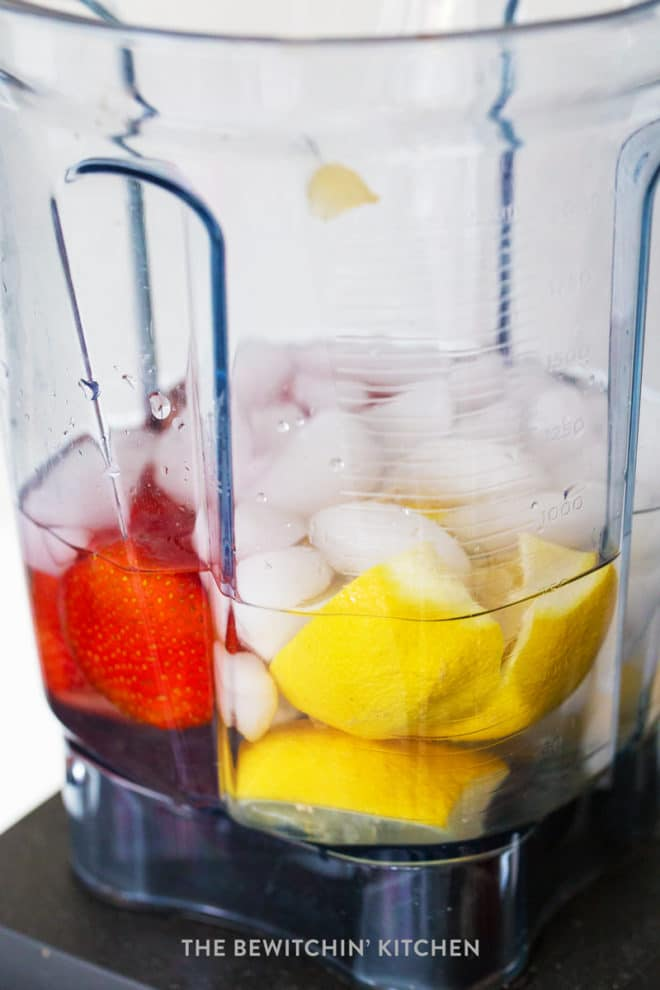 how to make strawberry lemonade in a vitamix