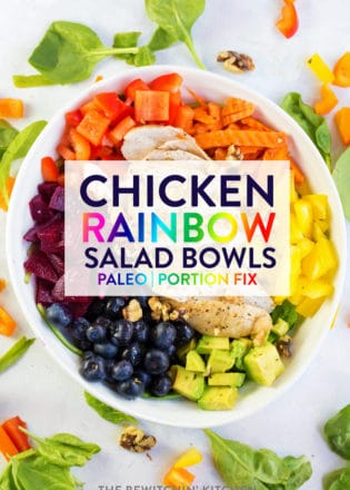 Chicken rainbow salad bowl recipe