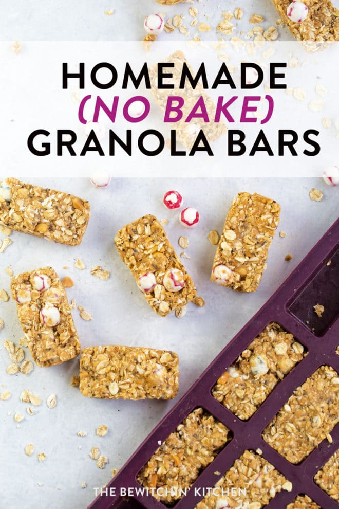 How to make no bake granola bars recipe