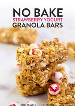 no bake strawberry granola bars