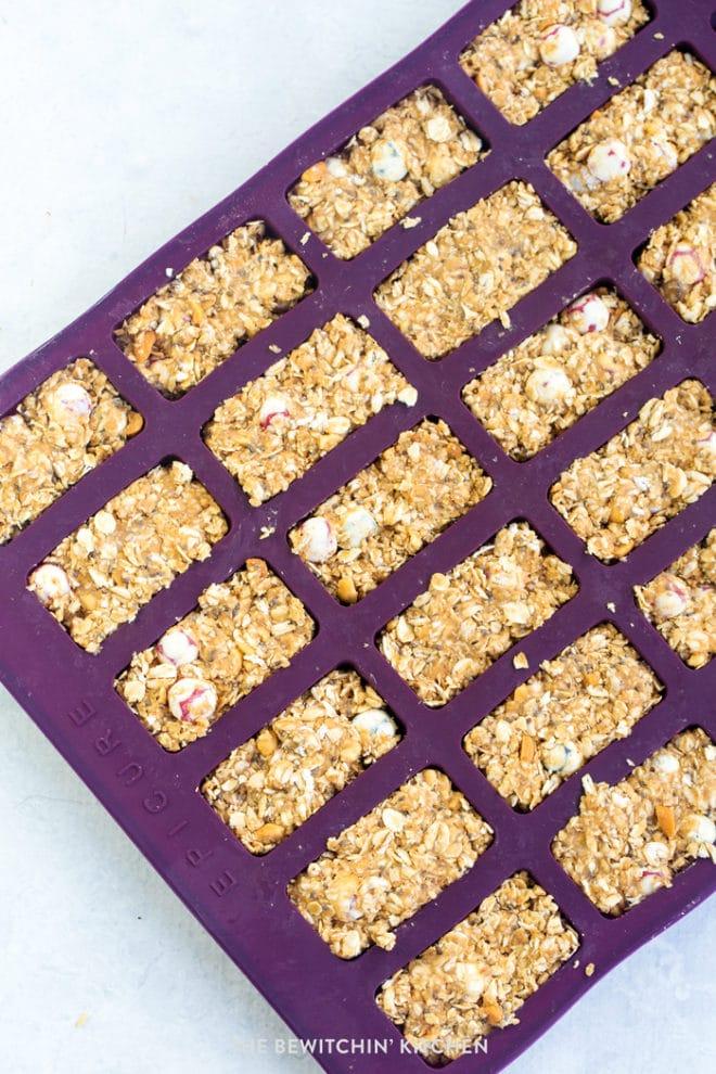 Nut free granola bars recipe