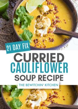 21 Day Fix Curry Cauliflower Sou