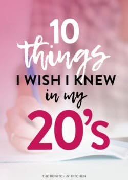 things i've learned in my 20's
