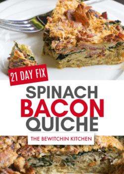 21 Day Fix Spinach Bacon Quiche