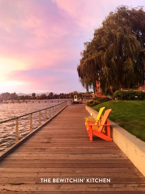 Beautiful sunset at the Okanagan Lake Resort - Manteo