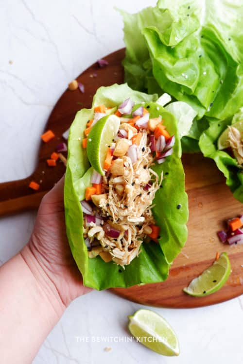 healthy chicken lettuce wraps recipe
