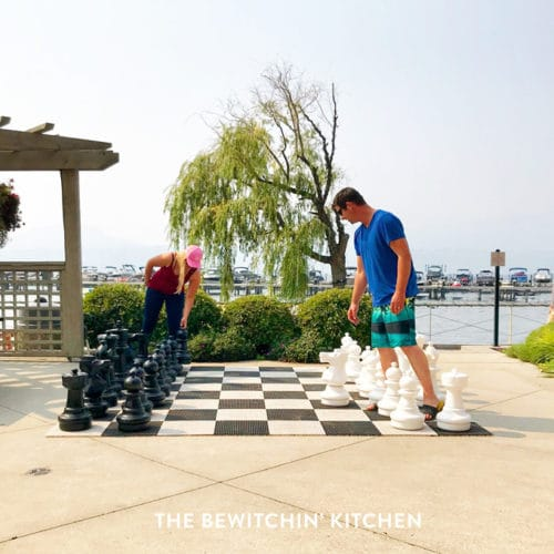 Outdoor chess in kelowna bc