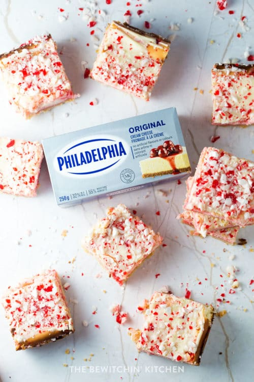 Philadelphia cream cheese cheesecake bars for christmas