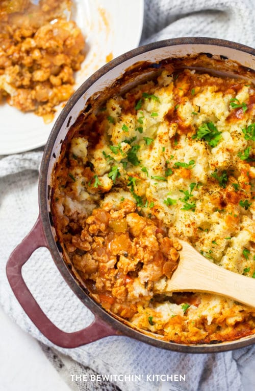 Healthy chicken shepherds pie