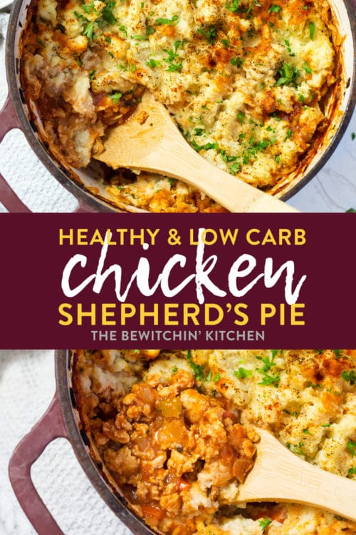 Healthy shepherd's pie recipe with cauliflower