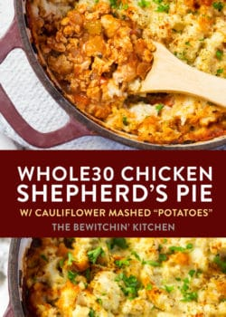 Whole30 chicken shepherd's pie