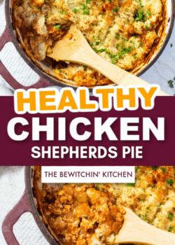 healthy chicken shepherds pie