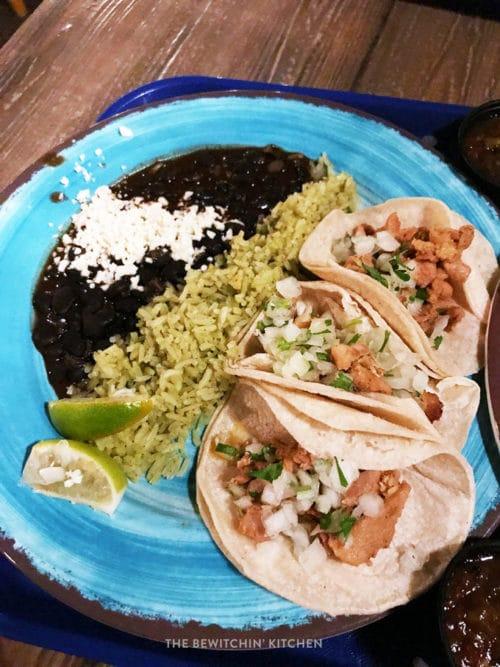 Gluten free street tacos at Disneyland California Adventure
