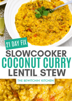 21 Day Fix Coconut Curry Lentil Soup