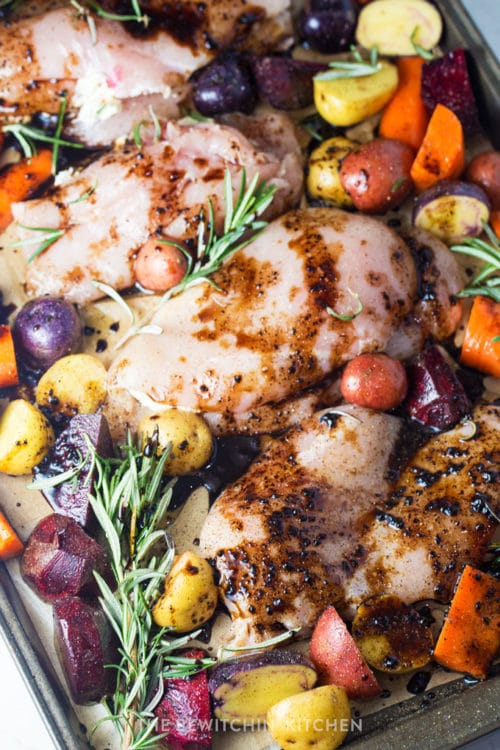 healthy and delicious sheet pan chicken recipe