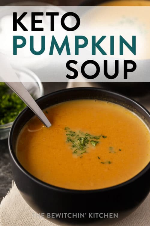 Keto pumpkin soup recipe