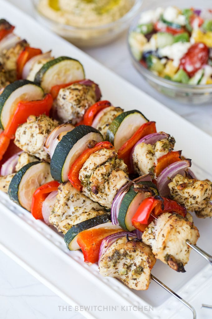healthy bbq chicken kebabs