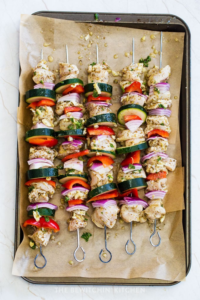 healthy chicken skewers