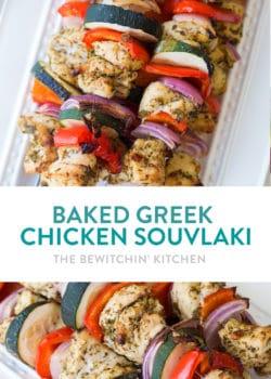 Baked chicken souvlaki