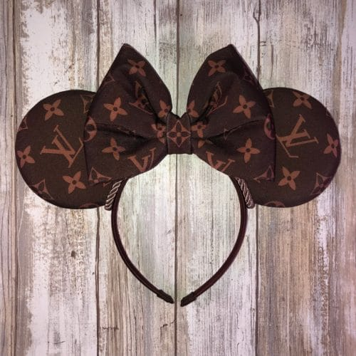 Lous Vuitton Minnie Ears for Disneyland and Disney World trips! Stand out in the crown with these designer mouse ears.