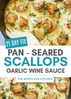 21 day fix seared scallops