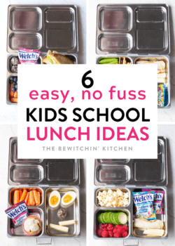 Easy School Lunch Ideas that are No Fuss and no effort