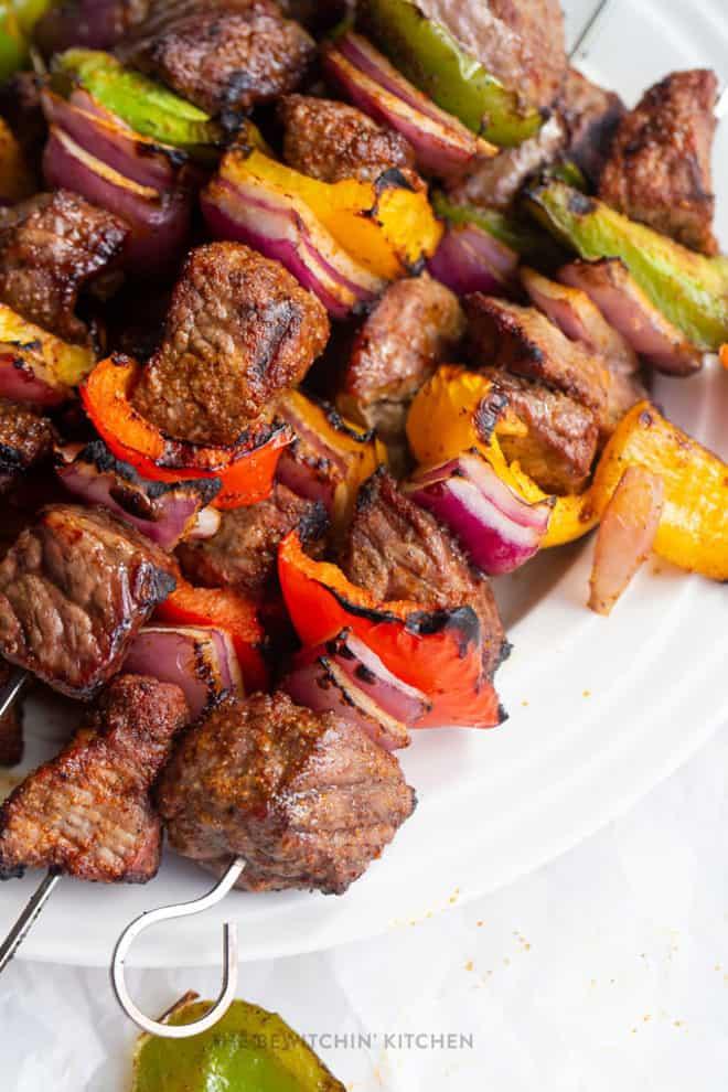 fajita beef kebabs