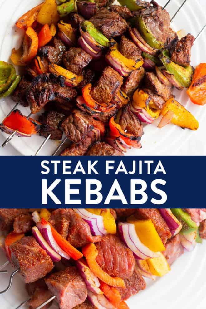 fajita steak kebabs
