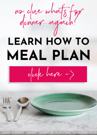 empty dishes, learn how to meal plan