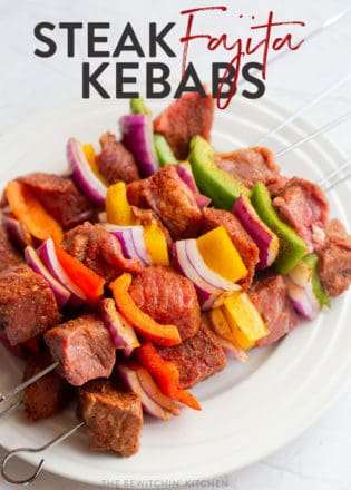 steak fajita kebabs