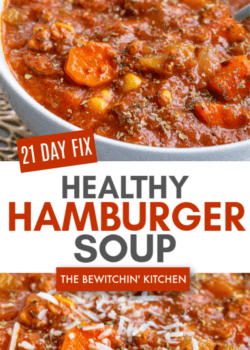 21 day fix hamburger soup