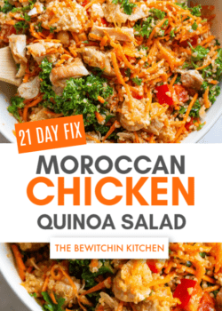 21 Day Fix Moroccan Chicken Quinoa Salad Bowls