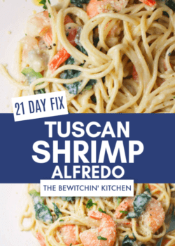 21 Day Fix Tuscan Shrimp Alfredo
