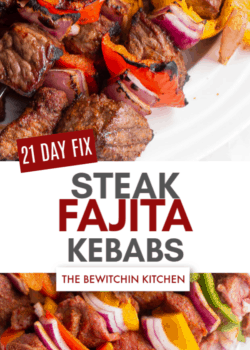 21 Day Fix Steak Fajita Kebabs