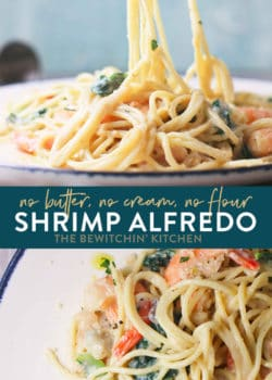 skinny chicken shrimp alfredo sauce recipe