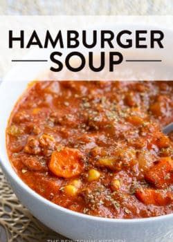 healthy hamburger soup recipe