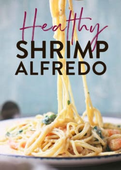 healthy and creamy shrimp alfredo