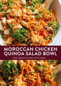 moroccan quinoa chicken salad