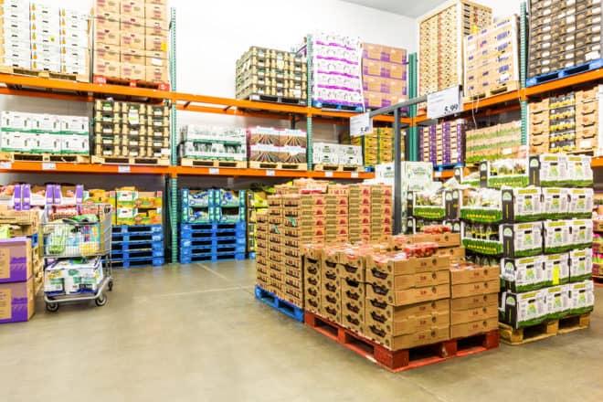 Costco produce aisle