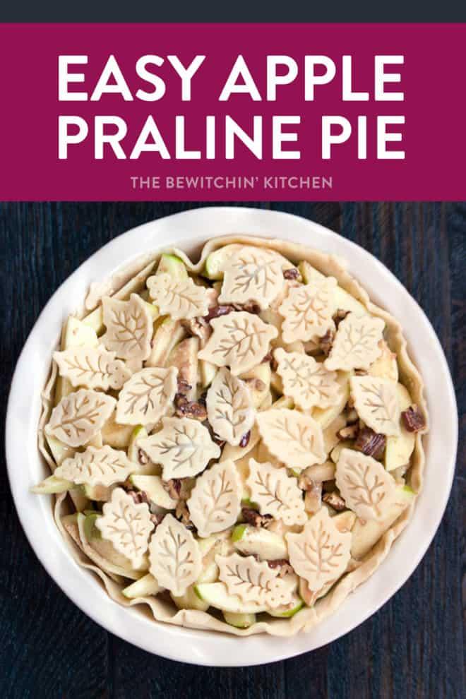 easy apple praline pie