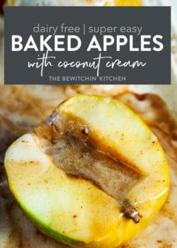 dairy free baked apples with coconut cream
